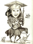 Caricature of Brooke-Commissioned