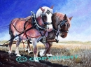 Workin' the Roans- $860.00 (SOLD)<BR>Giclee Prints Available